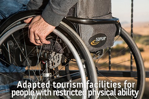 Adapted tourism facilities for people with restricted physical ability