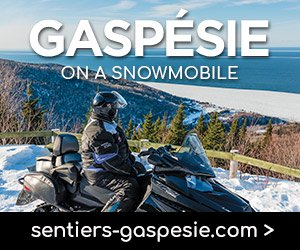 Gaspésie on a snowmobile