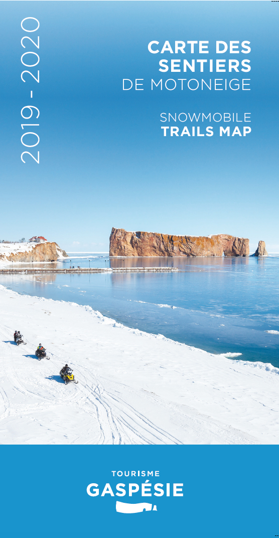 Gaspésie Snowmobile Trails Map 2019-2020