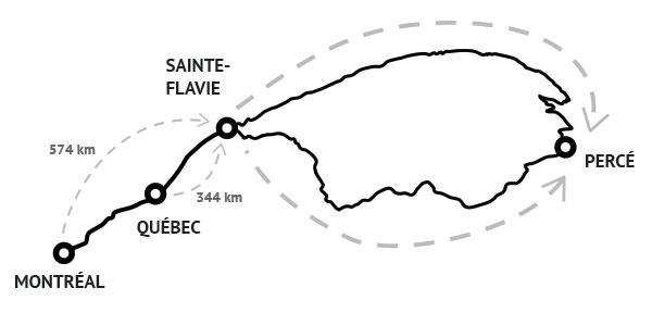 Gaspésie Road Map!